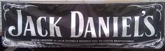 "Jack Daniels Deluxe Western Advertising Banner Black 380-8009 by Jack Daniel's. $50.00. Size: 3x10 Vinyl Advertising Sign. Grommets for Displaying. Official Jack Daniels Western Advertising Banner. Measures 3'x10', has grommets around the edges, and reminds you ""Your Friends at Jack Daniel's remind you to drink responsibly"". At the bottom it states: JACK DANIEL'S and OLD NO. 7 are registered trademarks. C 2006 Jack Daniel's Tennessee Whiskey Alcohol 40% by Volume (80 p..."
