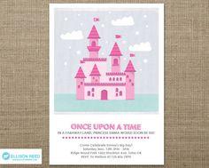 Princess Invitation - Princess Birthday - Castle - Princess Printable - Fairy Tale - girl birthday - Pink - Purple - Printable Party by EllisonReed on Etsy https://www.etsy.com/listing/95698000/princess-invitation-princess-birthday