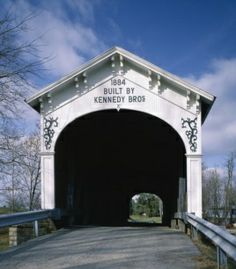 The Kennedys of Indiana, a large bridge-building family, designed and built this lovely covered bridge in rural Rush County, Indiana.