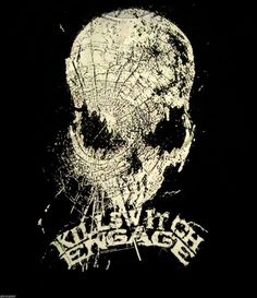 Killswitch Engage Skull Shattered ( Logo from the CD ) Rare Rock T Shirt Medium #Bravado #GraphicTee