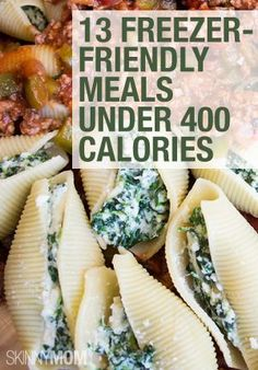 These 13 meals are freezer-friendly and under 400 calories! Perfect for busy week nights. 13 Popular Freezer-Friendly Recipes Under 400 Calories 600 Calorie Meals, Meals Under 400 Calories, No Calorie Foods, Low Calorie Recipes, Healthy Recipes, 500 Calories, 400 Calorie Breakfast, 400 Calorie Dinner, Healthy Low Calorie Meals