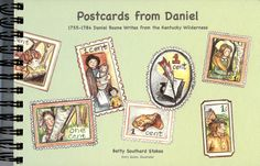 """Here's a close-up of """"Postcards from Daniel"""" Emry's illustrations are adorable and historically accurate! Postcards written by Betty Southard Stokes."""