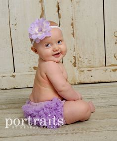 Lavender Chiffon Ruffle Bum Bloomer Diaper Cover by my2lilpixies, $8.75