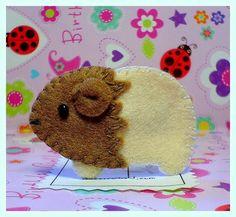 felt guinea pig from Bobblelicious