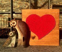 "Cuadro String Art ""Corazón"" #hilorama #clavos #hilos #nails #wood #homemade #diy #manualidades #stringart #fils #madera #string #hechoamano #manualitats #heart #corazon #cor #amor #love #decoracion #decoration #decoracio #claus"
