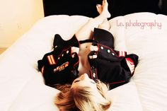 """""""Just For Him"""" Dress Blues Boudoir Military Wedding Picture"""