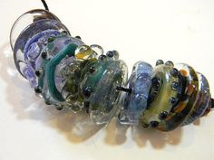 Lampwork Boro Beads COOL BREEZE Two Sisters by TwoSistersDesignss, $15.00