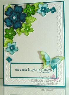 KathleenStamps: Flower Shop and Petite Petals Card