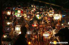 Lamp shop in Morocco Marrakech