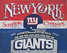 New York Giants, 16 by 20 inch, Poster