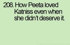 so true and just another reason to love Peeta #HungerGames how many more days??
