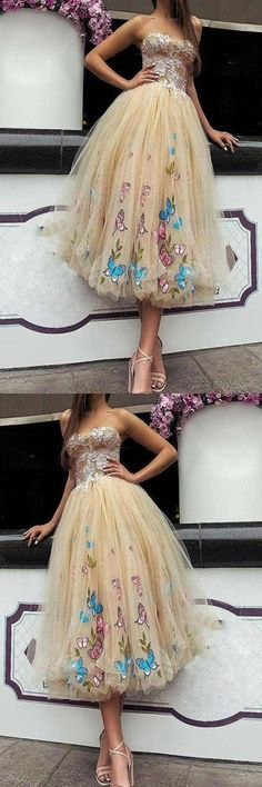 Prom Dresses 2019, Appliques Homecoming Dress, Homecoming Dress Short, Custom Made Prom Dress #PromDresses2019 #AppliquesHomecomingDress #HomecomingDressShort #CustomMadePromDress