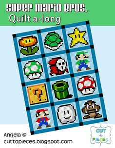 Super Mario Bros quilts!