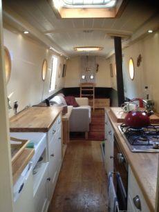 Narrowboat interior