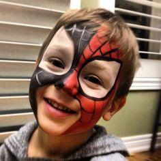 #Spider-man #Facepainting Face Design, Spider, Birthdays, Birthday Parties, Halloween, Boys, Party, Painting, Anniversary Parties