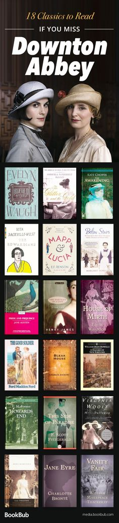 Check out these great novels if you love Downton Abbey. This classics book list features some of the best classic books to read.