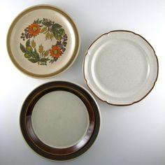 Wall Decor Plates set of 5, decorative plates, kitchen wall decor, shabby chic