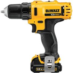 """12v Max Voltage 1500 Max Rpm 3 and 8"""" Clutch Size 15 Clutch Settings Compact Lightweight Design Fits Into Tight Areas 2-speed Transmission For Optimal Speed. Dewalt 12-volt 3 And 8"""" Vsr Cordless Drill And Driver by Custom Made. #myCustomMade"""
