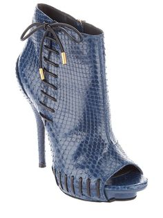 Versace - pyton skin ankle bootie
