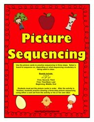 sequence activity, ordering activity, putting things in order, sequencing activity, sequencing pictures