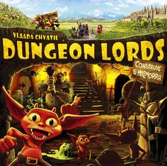 And this is another real good Dungeon Crawler: Dungeon Lords. You are the dungeon keeper, building up your dungeon, hiring creatures and defeating all the glorious heros. That game works quite well and makes good fun. Man Games, Dungeon Keeper, Fun Board Games, Threes Game, Fighting Games, Tabletop Games, Paladin, Otter, Board Games