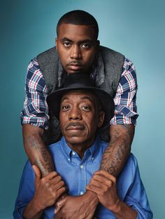 Nas and Pops X Gap// such expressive eyes