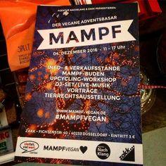 Freuen uns schon auf den MAMPF Adventsbasar / Weihnachtsmarkt im ZAKK :-) Infos bekommt ihr auf  www.mampf-vegan.de  #mampfvegan #duesseldorf #bilk #urban