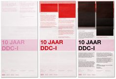 DDC-I : Studio Laucke Siebein, via graphic design layout, identity systems and great type lock-ups.