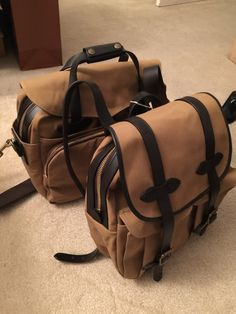My brand new Filson bags. :-)