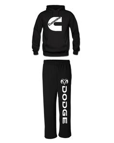 cummins matching hoodie sweatpants dodge cummins matching hoodie and sweatpants - black /