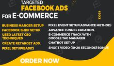 🔥What This Gig All About. 👉Business Manger Setup 👉FB Shop Setup 👉Used Latest CBO Techniques 👉Create Retarget Ads. 👉Pixel event setup 👉E-commerce Track with Google tag Manager(advance Method) 👉Advance Funnel Creation. 👉Chatbot Set Up(Many Chat) 👉Customize your Page(Bonus) #facebookmarketing #facebookads #marketing #business #onlinebusiness
