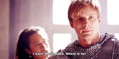 Arthur wants Merlin back