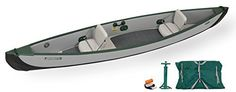 The World's First All Drop Stitch Inflatable Canoe has arrived! Say goodbye to old rigid, heavy, unstable, tippy, nearly impossible to store and transport canoes! The Patent Pending Sea Eagle Travel Canoe 16 is a incredibly rigid, super light, sixteen foot, high pressure inflatable canoe...