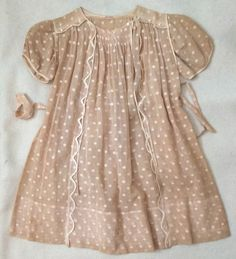 fc1a2285b114 RARE 1930s Girls Dress Handmade in France Museum Quality M Museum