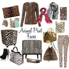 """Animal Print Faves"" by Zuniga Interiors on Polyvore"