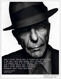 Leonard Cohen RIP ... now I understand