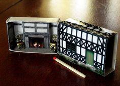 Matchbox House: Miniature Room inside a by SuitcaseDollhouse