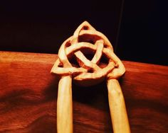 Excited to share the latest addition to my #etsy sho Triquetra, Hair Comb, Celtic, Carving, Ethnic Recipes, Etsy, Instagram, Wood Carvings, Sculptures