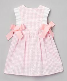 Pink Seersucker Dallas Dress - Infant & Toddler