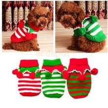 Puppy Pet Cat Dog Christmas Clothes Knitted Sweater Coat Hoodie Holiday Apparel XXS-L(China (Mainland))