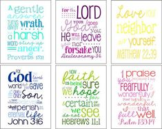 Best place for bible verse art on the web! Send her your verse and color palate. So cool!
