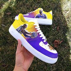 Kobe Bryant Shoes, Kobe Shoes, Air Force One Shoes, Air Force Ones, Custom Painted Shoes, Custom Shoes, Nike Custom, Nike Basketball Shoes, Tennis