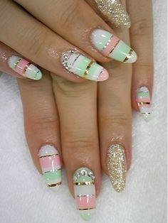 Nail art #nail #unhas #unha #nails #unhasdecoradas #nailart #gorgeous #fashion #stylish #lindo #cool #cute #pastel