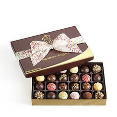 GODIVA Signature Truffles Gift Box Celebration Ribbon 24 Pc - $46.99 - FREE SHIPPING