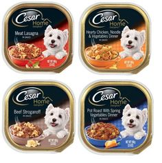 Cesar Home Delights Dog Food 4 Flavor 8 Can Bundle: (2) Meat Lasagna, (2) Chicken Noodle Vegetables, (2) Beef Stroganoff, and (2) Pot Roast and Spring Vegetables, 3.5 Oz. Ea. >>> Continue to the product at the image link. (This is an affiliate link and I receive a commission for the sales)