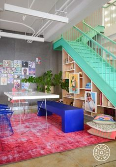 Great space! Love the stairs.