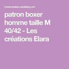 patron boxer homme taille M 40/42 - Les créations Elara
