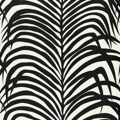 Schumacher ZEBRA PALM EBONY Wallpaper