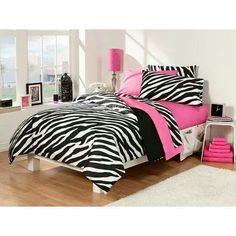 Dorm Room Superset Zebra/Pink 30-piece Twin Extra Long #decoracionhabitacionjuveniles