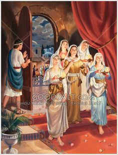 Parable of the ten virgins Parables Of Jesus, Wise One, Image Review, Abba Father, Buy Prints, Sunday School, Avatar, Clip Art, Christian